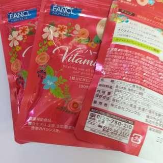 Fancl vitamin C 補充品 100粒