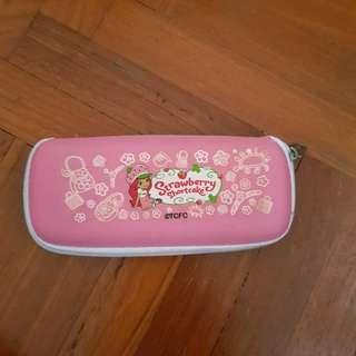 Pink strawberry glasses case