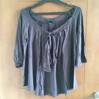 Mango, Grey Blouse