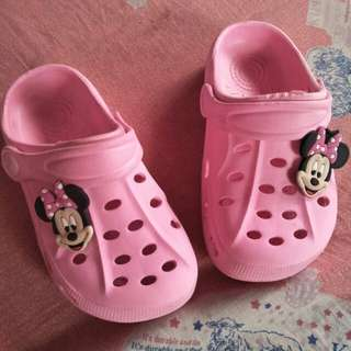 Minnie Mouse Slippers Crocs inspired