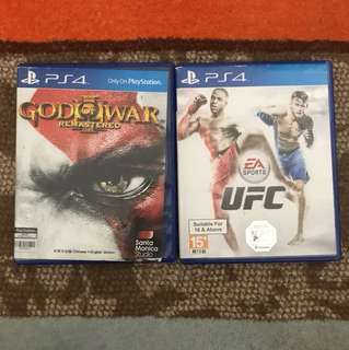 Kaset ps4 god of war,UFC @215.000
