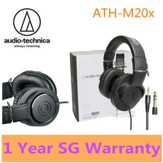 Audio Technica ATH-M20x Professional Headphones- 1 years SG Warranty