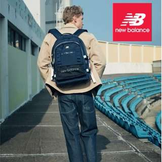 韓國 New Balance 深藍色牛津布 多功能運動 大背囊 3D Backpack