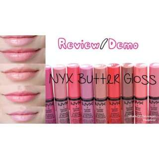 NYX Butter Gloss (Authentic)