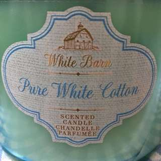 Bath and body works scented candle (pure white cotton)