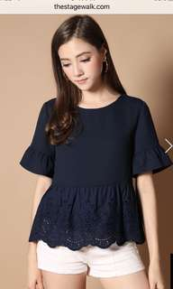 BNWOT The Stage Walk navy top