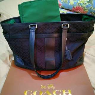 Authentic Coach Jackquad Handbag / Diaper Bag