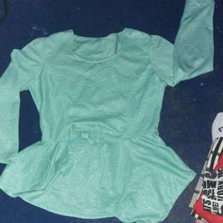 Peplum tosca top