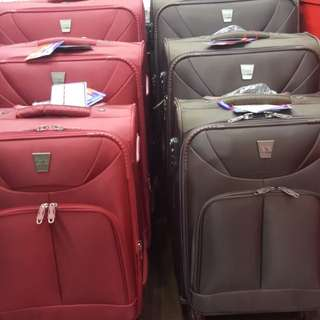 "LUGGAGE. Brand. Ferie POLO. SIZE.  28"" SET. RED AND BROWN ( 3 Year Warranty )+852 93324622 (MOBILE & WHATSAPP) DELIVERY FREE IN MTR STATION."