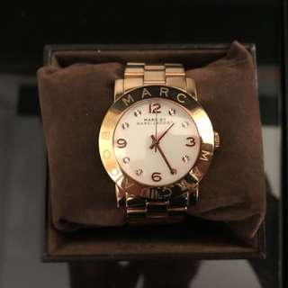 Marc jacobs rose gold copper watch