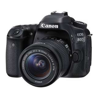 NEW Canon 80D Camera Body + Canon EF-S 18-55mm IS STM Lens