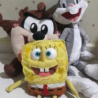 Soft Toys | Looney Tunes | Tasmanian & Bugs Bunny | Sponge Bob