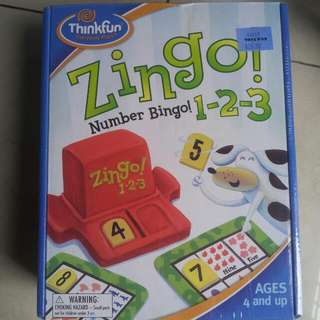 Zingo!  number bingo - Thinkfun