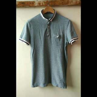 Kaos Poloshirt Import Merk Hangten Original   Size L : lebar bahu 42cm, lebar dada 49cm, panjang 71cm.