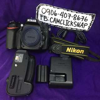 Nikon d7200 body with battery grip and accesories