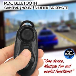 Mini Bluetooth Gamepad Mouse Shutter VRremote PPTpresentor