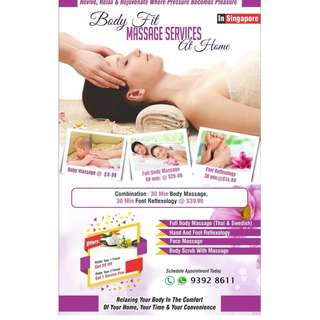 Full body Massage/Scrub at Home