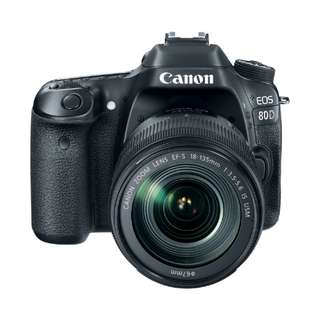 NEW Canon 80D Camera Body + Canon EF-S 18-135mm IS STM Lens