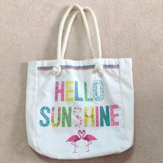Flamingo Tropical Canvas Bag