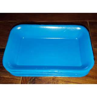Blue Thick Styrofoam Food Trays
