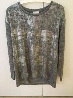 Witchery metallic top