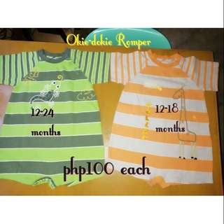 Oki Dokie Rompers (2 for 100)
