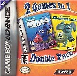GBA Monsters Inc & Finding Nemo *double pack*