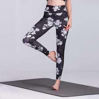 印花運動緊身健身彈力打底褲/Printed stretch leggings