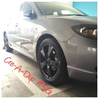 Plastidip Rims Spraying Services plasti dip