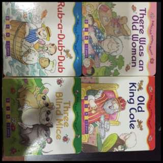 Pre-loved nursery rhymes books - set of 4