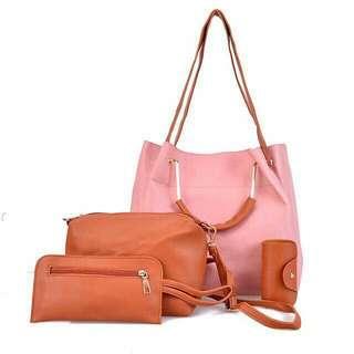 Korean bagset 4in1 Size 40×28cm