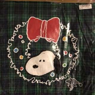 Snoopy 綠格仔復古cushion