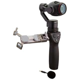 Osmo Plus with 4 batteries, Polar Pro Filters, base and articulating arm