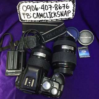Olympus dslr E500 with 2pcs lens and accesories and bag
