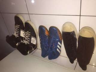 Sepatu adidas , dc , converse