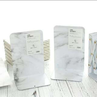Marble Print Bookstand Book end/Holder