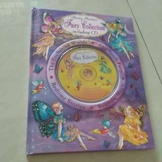 Children fairy book with cd