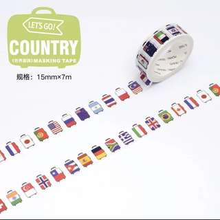 World Flag Masking Tape