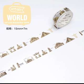 Ancient Civilization Traveling Masking Tape