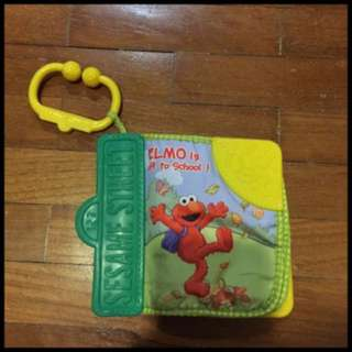 Pre-loved sesame street cloth/teether book