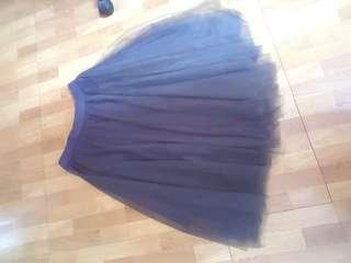 紗裙(黑-偏灰)