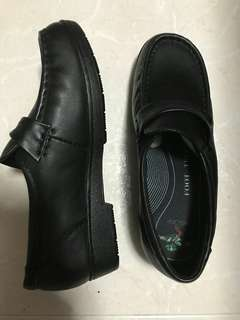 Black covered shoe