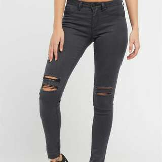 Factorie high waisted ripped jeans