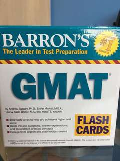 Barron's GMAT flash cards