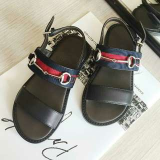 Gucci children's web horsebit sandal