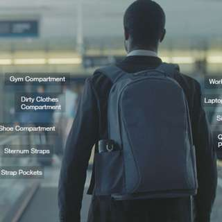 Ares Backpack [BLACK] - business bag with gym functionality