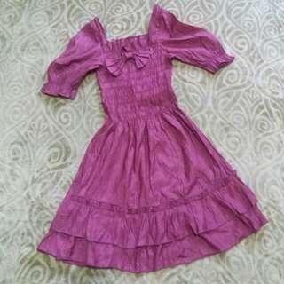 Off Shoulder Dress (Purple)