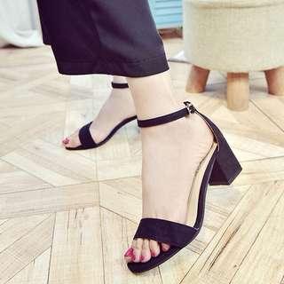 Black Heels Ankle Strap