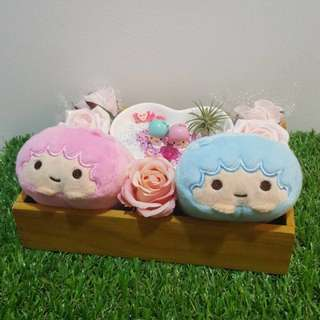 Little Twin Stars - Kiki & Lala Plush Toys With Figurines Air Plant