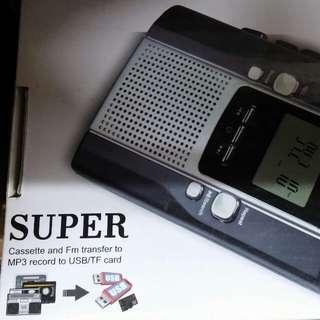 USB Cassettle Radio Player Recording&Playing